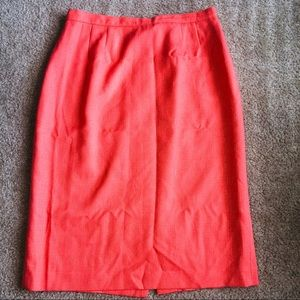 Textured Coral Pencil Skirt